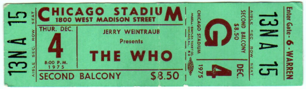 Stream or Download: The Who @ Chicago Stadium 12/5/75
