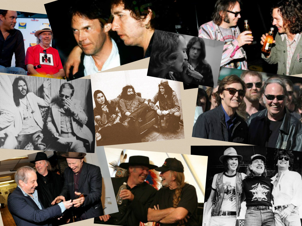 Hanging With Shakey: Photos Of Neil Young Shmoozing With Rock Legends
