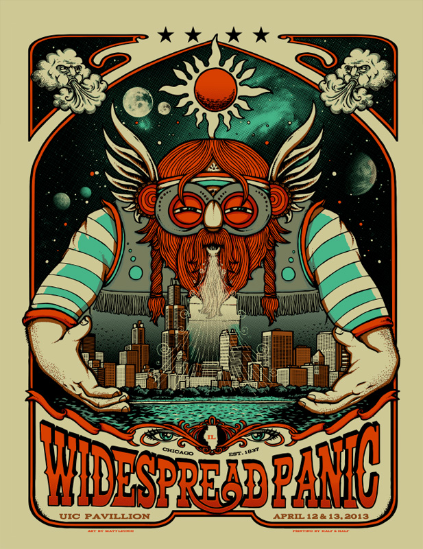 Sneak Peak: Official Widespread Panic UIC Pavilion 2013 Poster