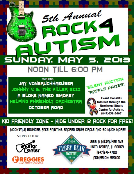 Helping Phriendly Orchestra Headlines 2013 Rock 4 Autism Benefit At Cubby Bear North