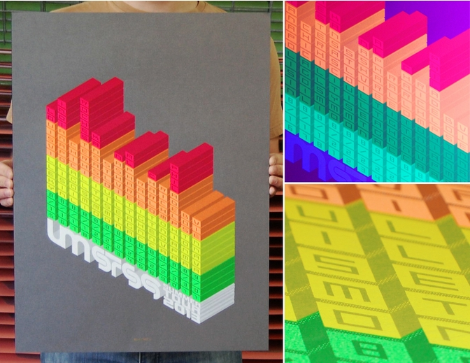 The Umphrey's McGee / STS9 Summer Tour 2013 Poster Looks Like A 3D Bar Chart! Plus, Limited Edition Pins