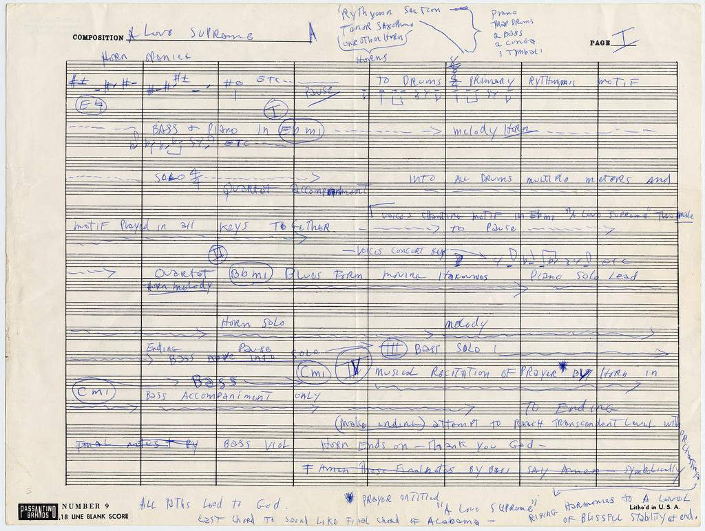 John Coltrane's Hand Written