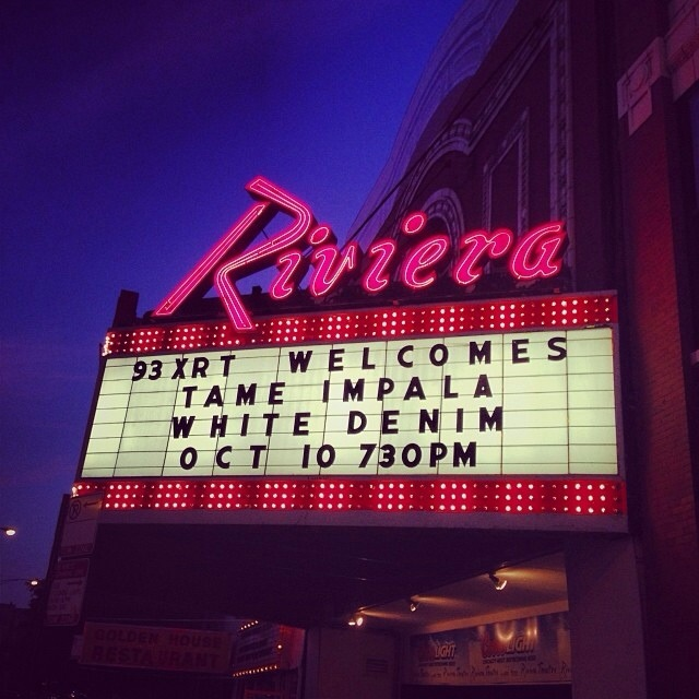 Setlist: Tame Impala & White Denim @ The Riviera Theater 10/10/13