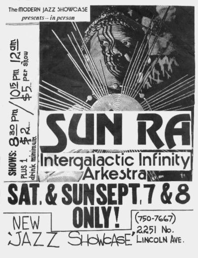 Stream or Download: Sun Ra Arkestra @ Jazz Showcase 9/8/74