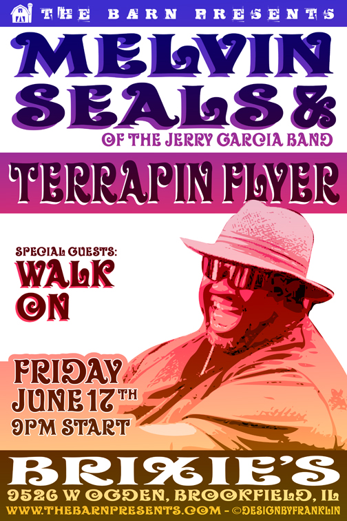 The Barn Presents Melvin Seals, Terrapin Flyer and Friends @ Brixies, June 17, 2011