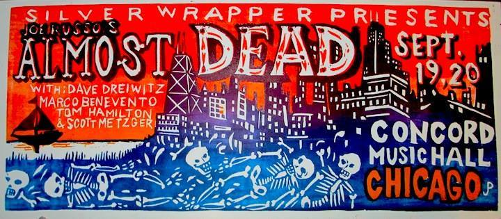 Yep, It's a Joe Russo's Almost Dead Chicago Poster By Jim Pollock