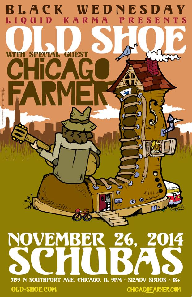 Contest | Old Shoe & Chicago Farmer Meet-and-Greet @ Schuba's 11/26/14 [Black Wednesday]