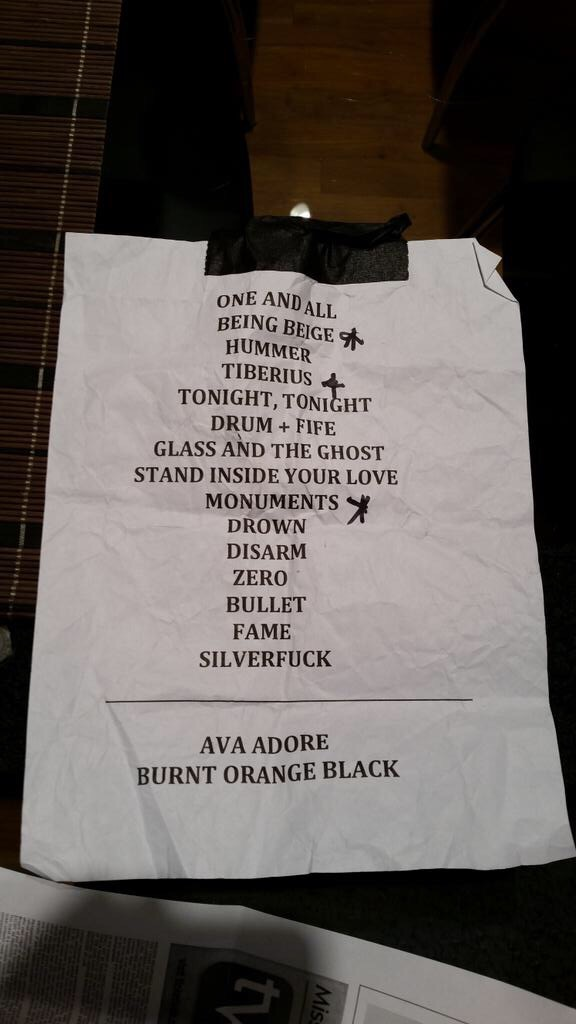 Setlist: Smashing Pumpkins at Thalia Hall 11/26/14