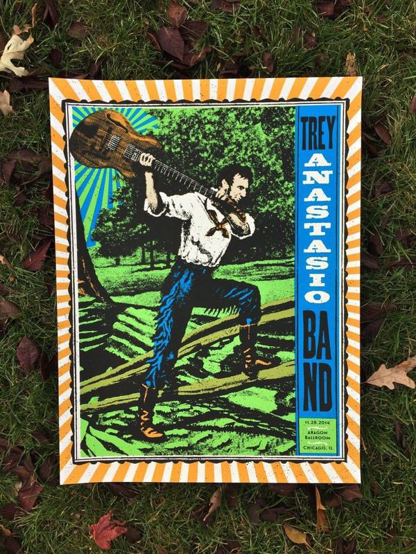 Setlist / Poster | Trey Anastasio Band @ Aragon 11/28/14