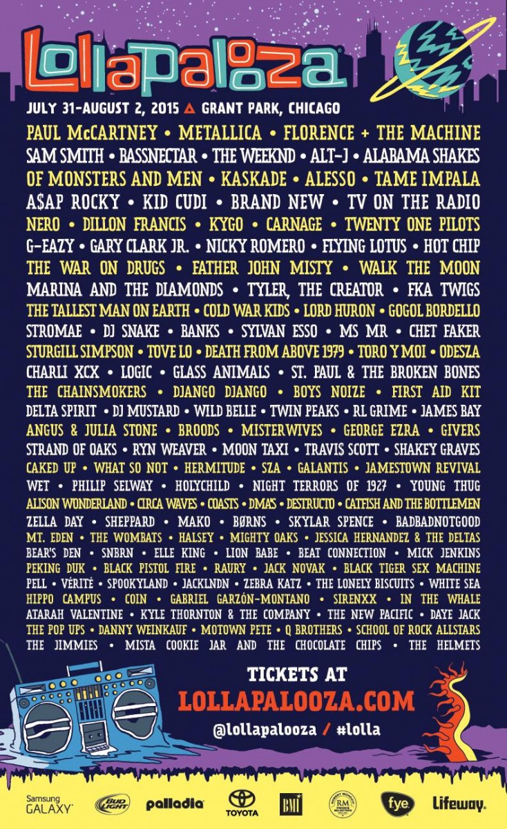 Lollapalooza Announces Lineup, Sells Out Almost Immediately