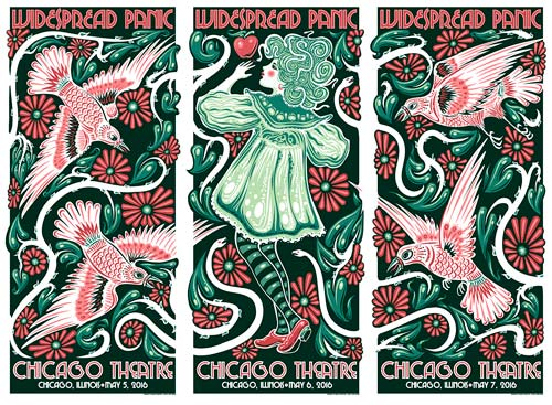 Widespread Panic Subtly Sells Jeff Wood's Chicago Posters Via Stage [Setlist, Stream, Download]