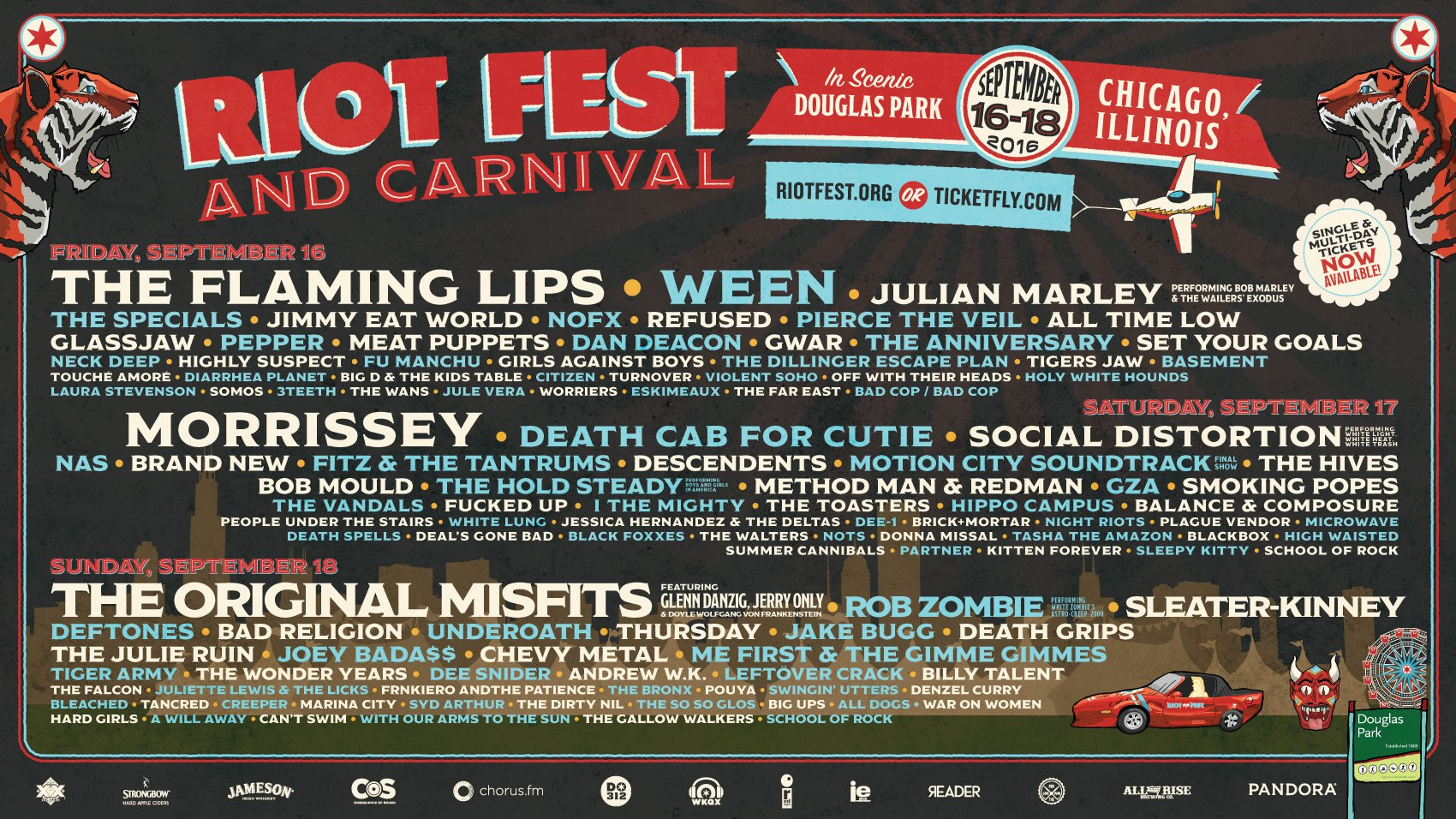 Riot Fest Announces Schedule, Additional Performers | WIN TICKETS!