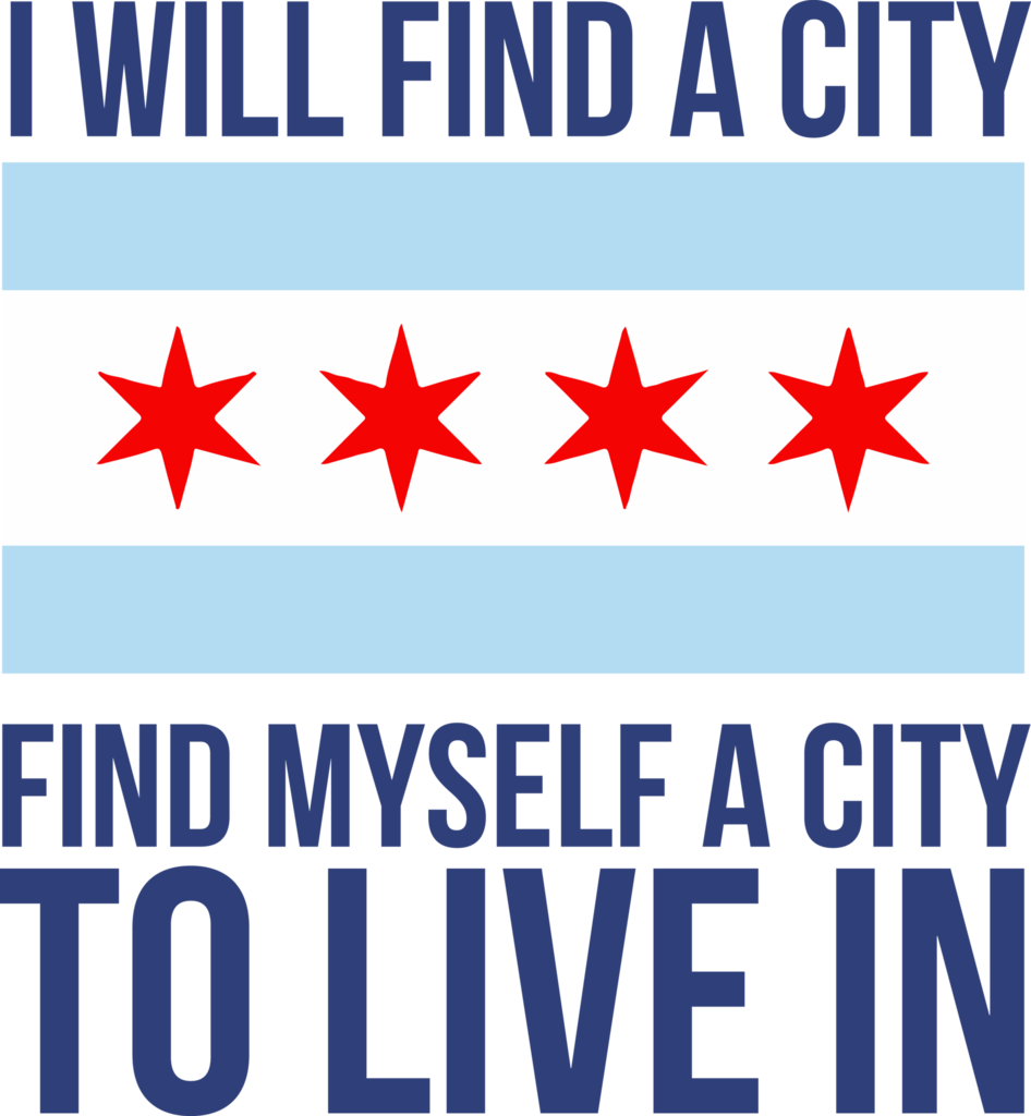 Find A City / Chicago Flag | Talking Heads (& Phish) T-Shirt From Apparel Thee Well