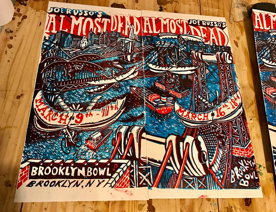 Jim Pollock Unveils JRAD Brooklyn Bowl Prints