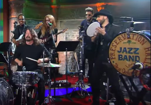 Dave Grohl Performs With Preservation Hall Jazz Band And Jon Batiste