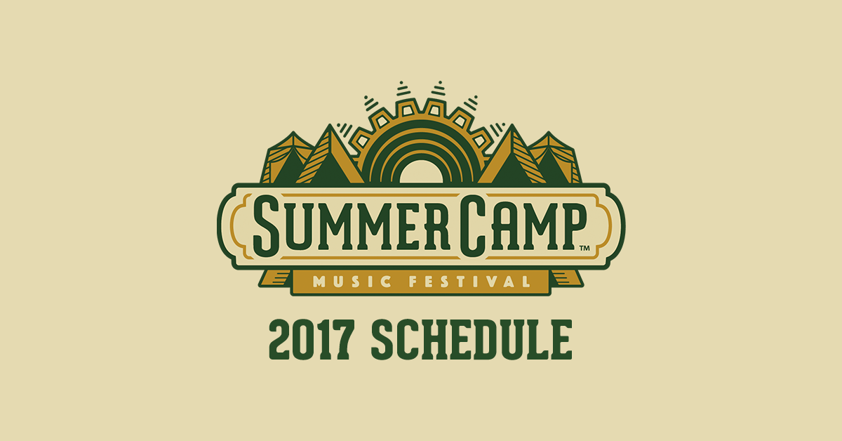 Summer Camp Music Festival Releases 2017 Schedule