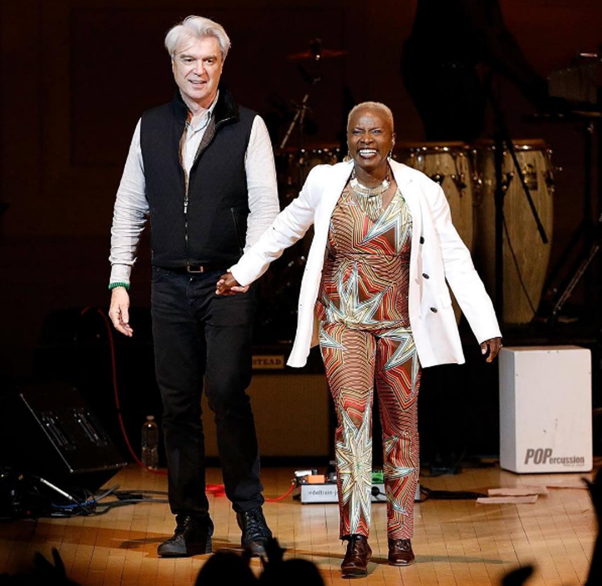 Watch David Byrne And Angélique Kidjo Perform