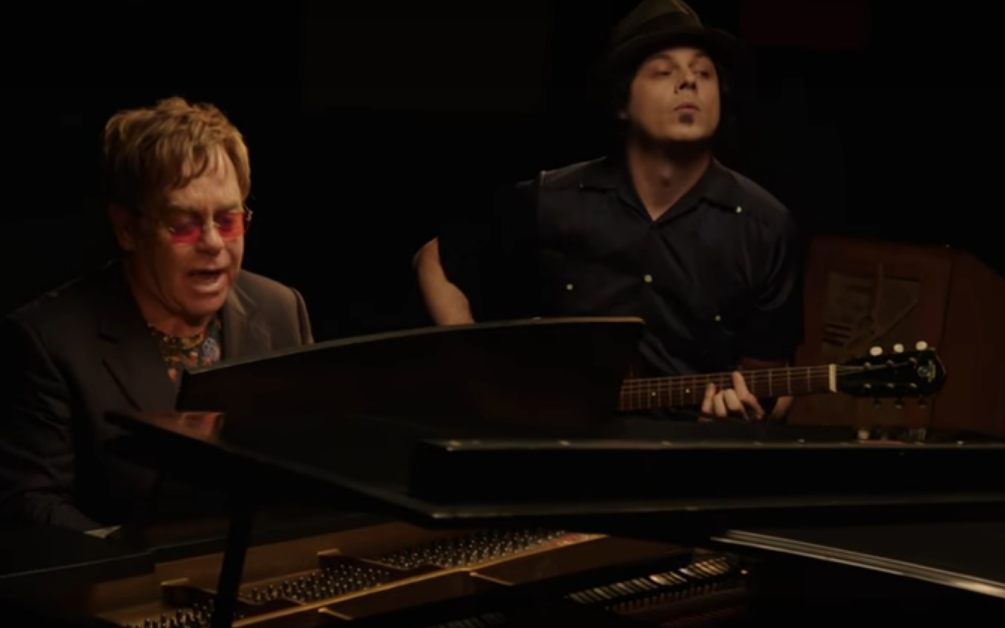 "Watch Jack White And Elton John Record New Song ""Two Fingers Of Whiskey"""