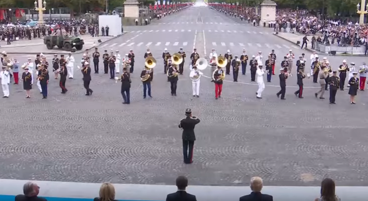 Trump vs. Daft Punk | Watch The President Frown Through Bastille Day Parade Performance