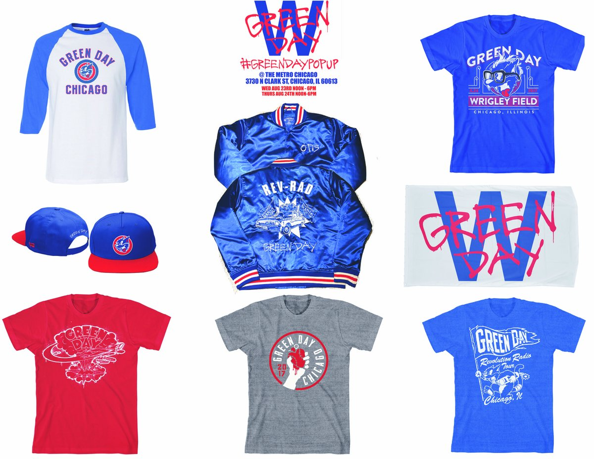 Green Day Announces Pop-Up Shop With Cubs Themed Merch