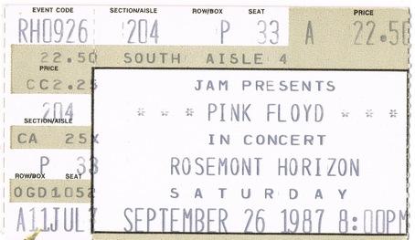 Stream, Download & Photos: Pink Floyd @ Rosemont Horizon 9/26/87