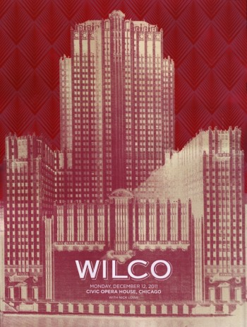 Setlist, Audio Stream & Download, Video, Poster: Wilco @ Civic Opera House, Chicago, IL 12/12/11