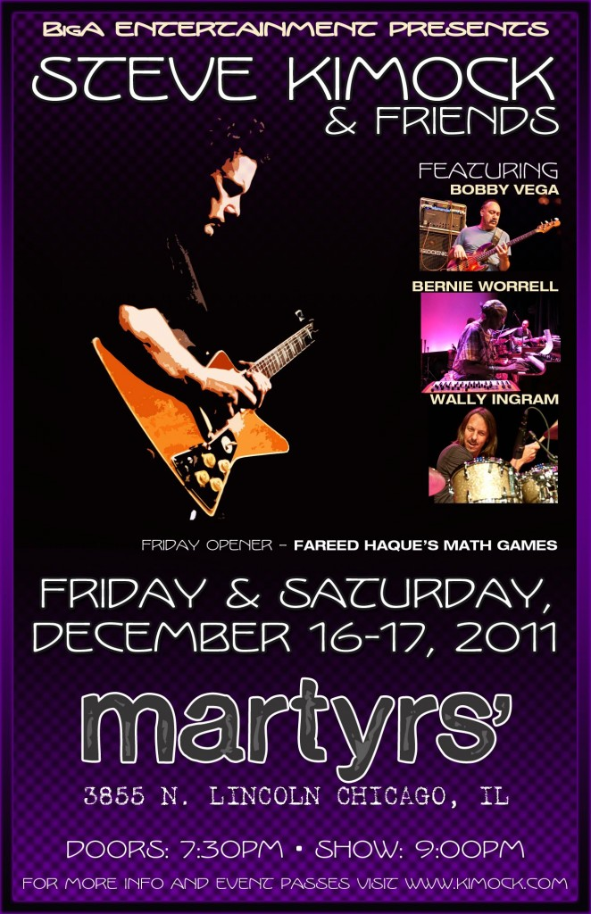 Setlist: Steve Kimock & Friends, 12/17/11 Martyr's Chicago, IL