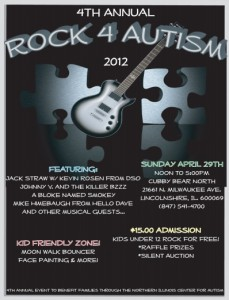 Rock 4 Autism Benefit Promises Jamming Fun For All Ages on Sunday, April 29 @ Cubby Bear North