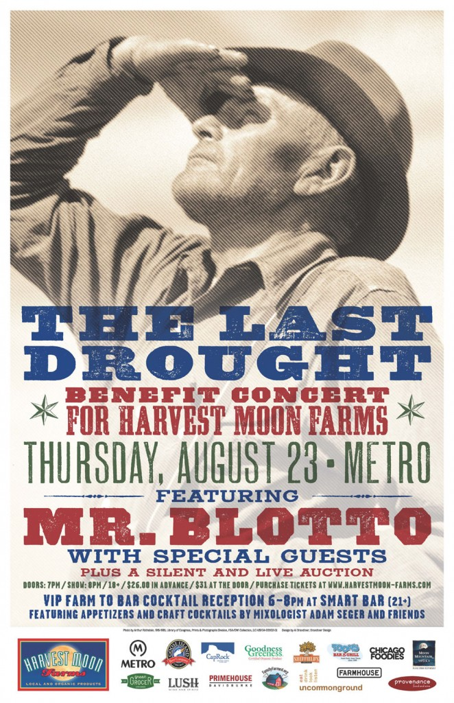 Help A Farmer: The Last Drought Benefit Features Mr. Blotto @ The Metro on 8/23