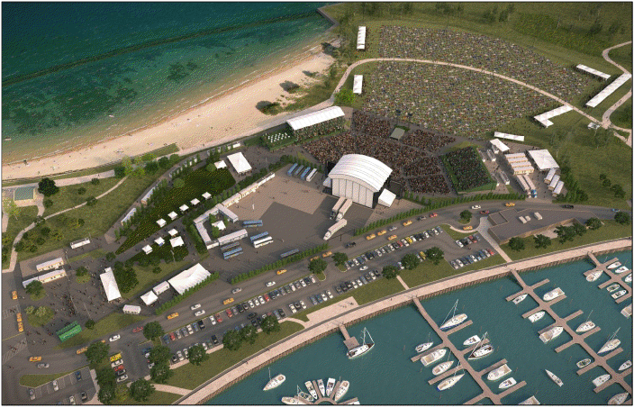 Charter One Pavilion At Northerly Island Parking