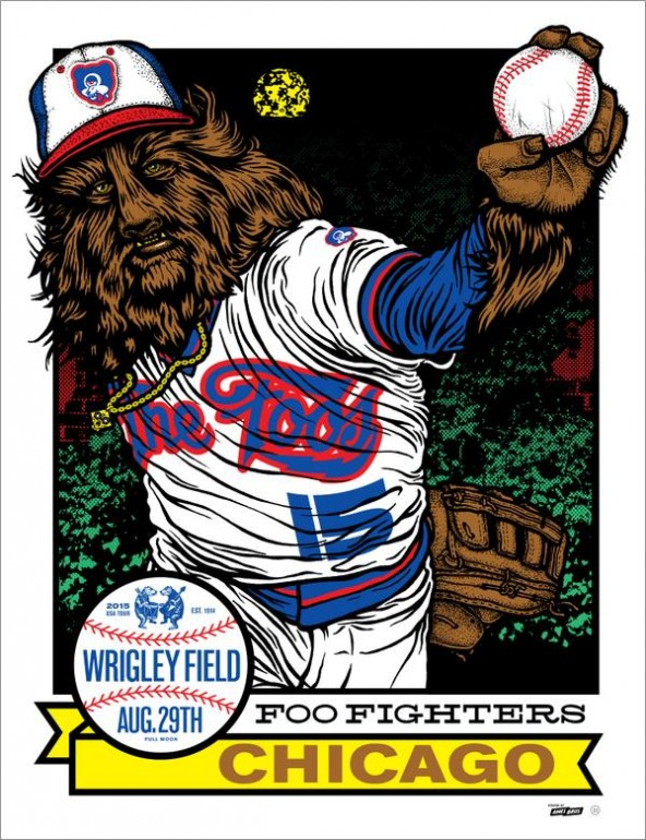 foo fighters wrigley poster