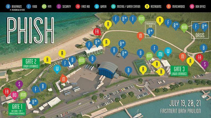 Vip Parking Northerly Island Phish